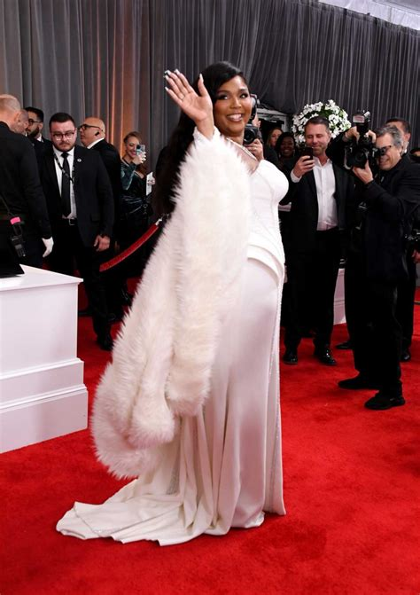 Lizzo Attends the 62nd Annual Grammy Awards at Staples