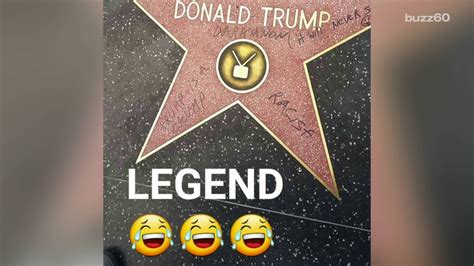 People keep vandalizing Donald Trump's star on the
