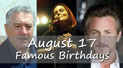 August 17 Birthday horoscope - zodiac sign for August 17th