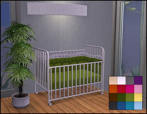 Mod The Sims - Simple Maxis Crib Recolors