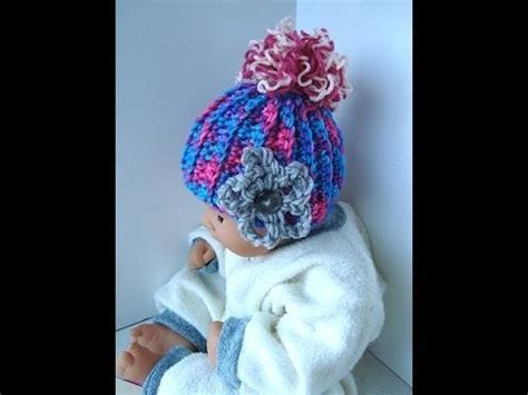 How to CROCHET a BABY HAT, pattern, you tube video