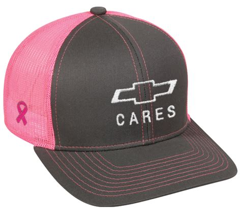 Charcoal Pink Mesh Breast Cancer Awareness Hat: Cruisin Sports