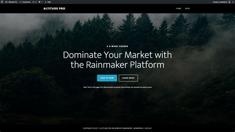 Altitude Pro – Make Front Page Site Header Background Static