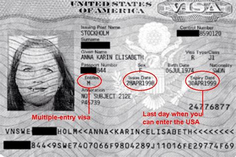 USA J1 Visa - Multiple Entry and Expiration Date - APEX