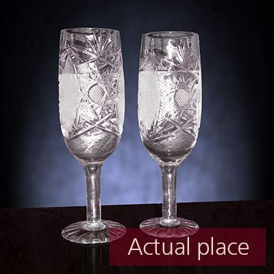 Clinking glasses, toast, two wine glasses - 04