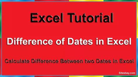 How can we calculate the difference between two dates in