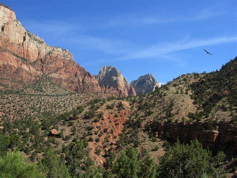 File:Mountains in Zion National Park, Utah