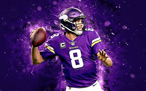 Download wallpapers Kirk Cousins, 4k, abstract art