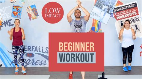 Standing, low impact beginner workout with Team Body