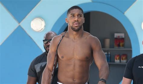 Ripped Boxer Anthony Joshua Takes a Shirtless Break Before