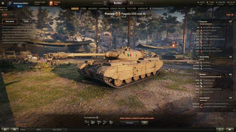 How to preview the Italian tank in the garage (v