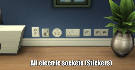 Mod The Sims - Electric Sockets Wall Stickers (StandAlone