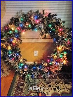 Christmas Wreath 45 in Large Commercial Grade lights Multi