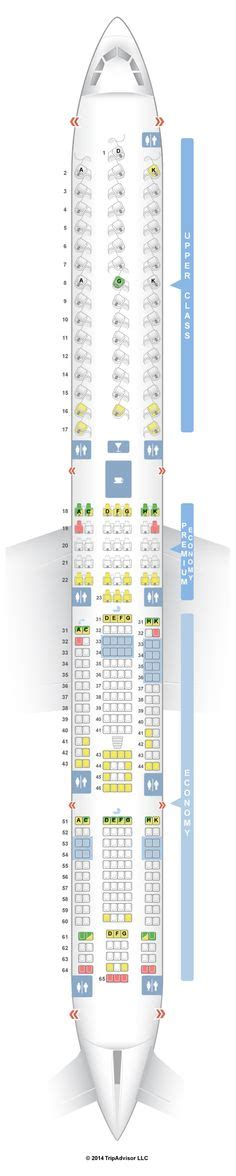 LUFTHANSA AIRLINES AIRBUS A380-800 AIRLINE SEATING MAP