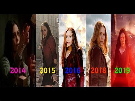 EVOLUTION of Scarlet Witch / Wanda in MCU Movies(2014-2019